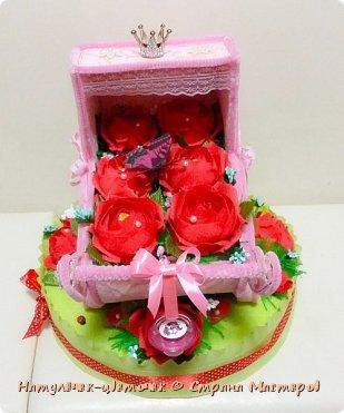 наконец розовая колясочка с памперсами и соской фото 3