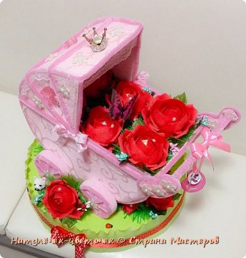 наконец розовая колясочка с памперсами и соской фото 1