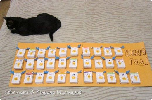 Календарь ожидания Нового года :) Теперь праздник ждать намного приятнее - конфетки в каждом конвертике примиряют с ожиданием. фото 3