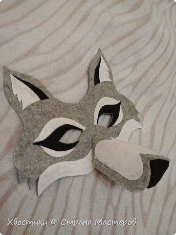 Вот такую маску ВОЛКА сделала племяннику для спектакля. Идея взята с просторов интернета. Эскиз рисовала сама от руки. фото 2