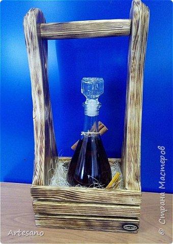 Бутылочница изготовлена вручную, это не покупная заготовка. фото 3