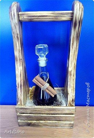 Бутылочница изготовлена вручную, это не покупная заготовка. фото 1