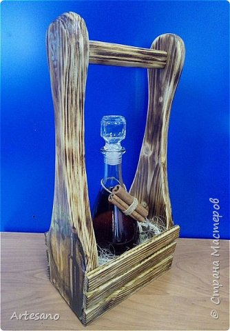 Бутылочница изготовлена вручную, это не покупная заготовка. фото 2
