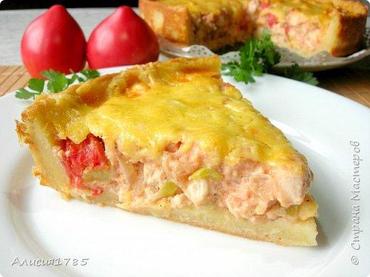 Картофельный пирог – рецепт полный восторг! Нежное тесто и много-много сочной начинки!