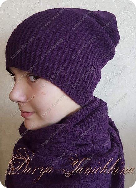 Снуд и шапка бини фото 1