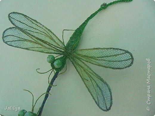 Приветствую всех заглянувших ко мне на страницу, посмотреть на моих стрекоз. Не ищите к какому виду стрекоз они относятся. Эти зелёно-голубые красавицы родились исключительно в моём воображении. фото 4