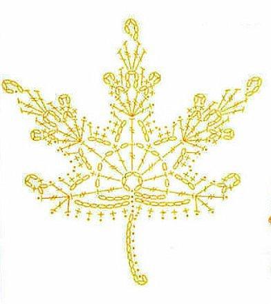 Добрый день, уважаемые мастера и мастерицы!!!  Очень рада принять участие в осеннем конкурсе. Я связала ажурные листья клена.  фото 8