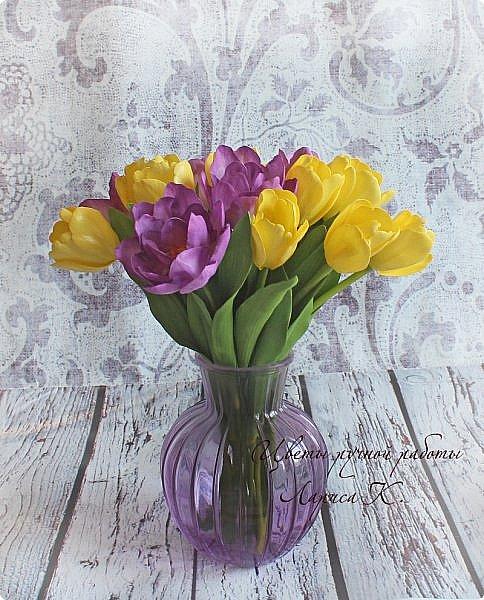 Когда солнышко радует все реже, тучки все чаще, а на душе весна !Просто необходимы тюльпаны!!!! Много тюльпанов!!! Для самого чудесного настроения на всю зиму! Да что там на зиму-на года!!!  фото 7