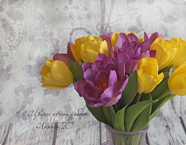 Когда солнышко радует все реже, тучки все чаще, а на душе весна !Просто необходимы тюльпаны!!!! Много тюльпанов!!! Для самого чудесного настроения на всю зиму! Да что там на зиму-на года!!!  фото 12