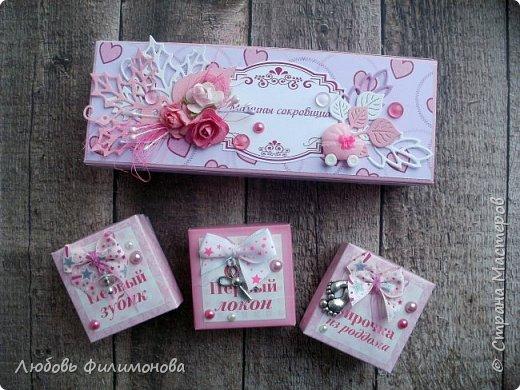 """Просто так сделала коробку """"Мамины сокровища"""" для девочки.  фото 5"""