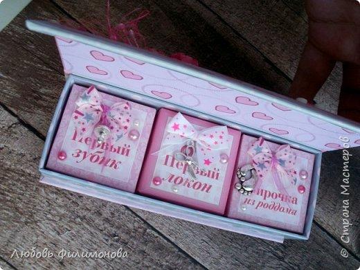 """Просто так сделала коробку """"Мамины сокровища"""" для девочки.  фото 2"""
