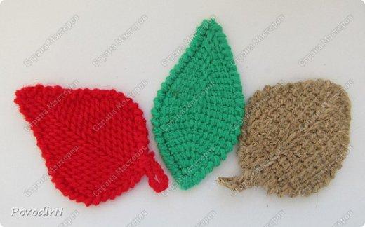 Листочки связала своим самым любимым способом вязания - тунисской вязкой. фото 1