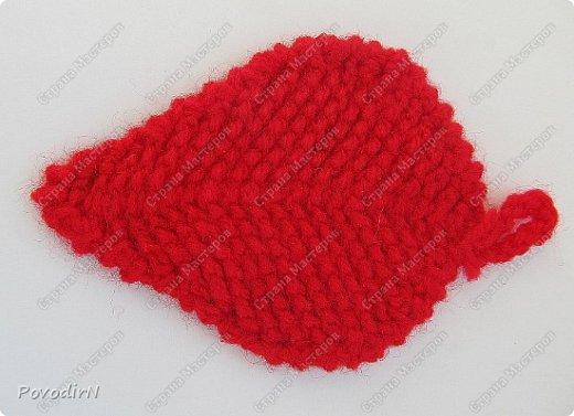 Листочки связала своим самым любимым способом вязания - тунисской вязкой. фото 3