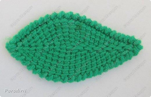 Листочки связала своим самым любимым способом вязания - тунисской вязкой. фото 4