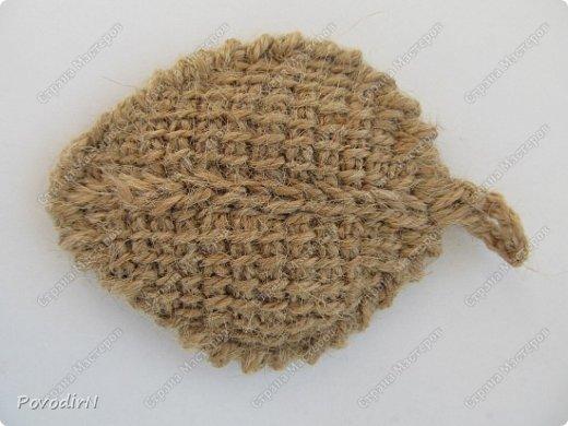 Листочки связала своим самым любимым способом вязания - тунисской вязкой. фото 6