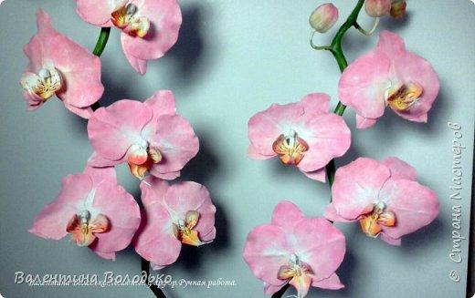 Добрый день мастера и мастерицы!!!!Последнее время в моих работах преобладает розовый цвет.Вот такая бледно - розовая орхидея. фото 8