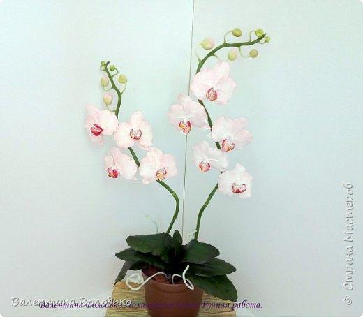 Добрый день мастера и мастерицы!!!!Последнее время в моих работах преобладает розовый цвет.Вот такая бледно - розовая орхидея. фото 1