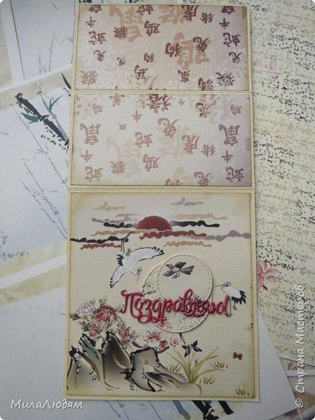 Доброго времени суток всем! Я продолжаю Самурайскую тему. Вторая открыточка. Она мне очень нравится.Она получилась очень органичная. Только она розовая, нежная и женственная. Или мне так кажется? Напоминаю: Тямбара - это «бой на мечах», специфический для Японии жанр историко-приключенческого кино, повествующий о самураях и сражениях на мечах, своего рода аналог американских вестернов и европейских фильмов плаща и шпаги. Слово «тямбара» происходит от «тянтян-барабара» звукоподражания, описывающего звук мечей в бою. Википедия фото 9