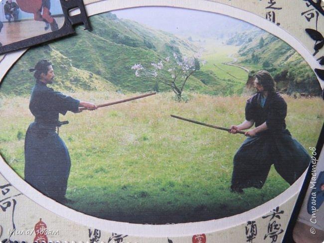И это опять я, здравствуйте! Продолжение темы самураев, Японии и тямбары.  Тямбара - тренировочный имитатор меча. Предназначен для лёгких тренировочных спарингов по историческому фехтованию. Длинна - 90 см. Материалы: пластик, энергофлекс, чехол из плотной прорезиненой ткани. фото 6