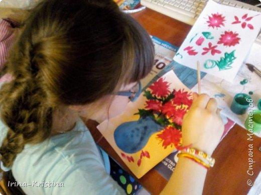 Натюрморт. Рисунок дочери на конкурс в школу с помощью мамы). фото 3