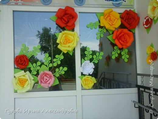 """Украшение """"Розы из бумаги"""" фото 3"""
