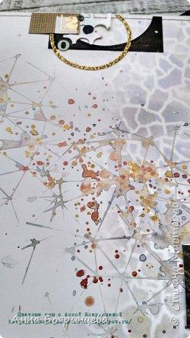 Всем привет!!!!! Когда были МК от Елены Моргун весь интернет пестрил такими альбомами. Я же свой альбомчик показываю только сейчас. Конечно живой МК-это незабываемые ощущения!!!!! 9 часов творчества, пролетели очень быстро. Столько впечатлений!!!! Поработала с красками - акварель Prima Watercolor Confections                                                            - чернила Prima Color Philosophy Dye Ink                                                            - воски Finnabair Art Alchemy Metallique Wax                                            от которых я была в таком восторге!!!!!                                                      Ну а теперь очень много фото!!!!! фото 7