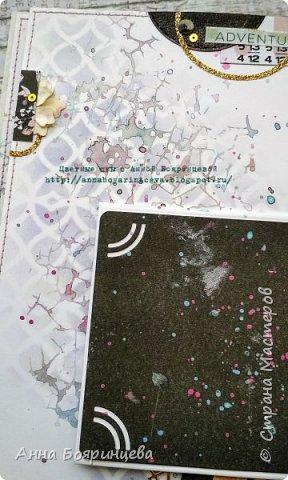 Всем привет!!!!! Когда были МК от Елены Моргун весь интернет пестрил такими альбомами. Я же свой альбомчик показываю только сейчас. Конечно живой МК-это незабываемые ощущения!!!!! 9 часов творчества, пролетели очень быстро. Столько впечатлений!!!! Поработала с красками - акварель Prima Watercolor Confections                                                            - чернила Prima Color Philosophy Dye Ink                                                            - воски Finnabair Art Alchemy Metallique Wax                                            от которых я была в таком восторге!!!!!                                                      Ну а теперь очень много фото!!!!! фото 13