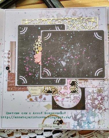 Всем привет!!!!! Когда были МК от Елены Моргун весь интернет пестрил такими альбомами. Я же свой альбомчик показываю только сейчас. Конечно живой МК-это незабываемые ощущения!!!!! 9 часов творчества, пролетели очень быстро. Столько впечатлений!!!! Поработала с красками - акварель Prima Watercolor Confections                                                            - чернила Prima Color Philosophy Dye Ink                                                            - воски Finnabair Art Alchemy Metallique Wax                                            от которых я была в таком восторге!!!!!                                                      Ну а теперь очень много фото!!!!! фото 15