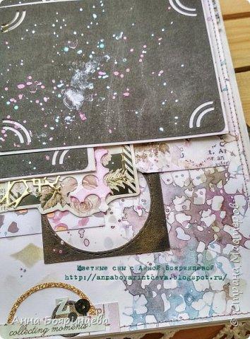 Всем привет!!!!! Когда были МК от Елены Моргун весь интернет пестрил такими альбомами. Я же свой альбомчик показываю только сейчас. Конечно живой МК-это незабываемые ощущения!!!!! 9 часов творчества, пролетели очень быстро. Столько впечатлений!!!! Поработала с красками - акварель Prima Watercolor Confections                                                            - чернила Prima Color Philosophy Dye Ink                                                            - воски Finnabair Art Alchemy Metallique Wax                                            от которых я была в таком восторге!!!!!                                                      Ну а теперь очень много фото!!!!! фото 16