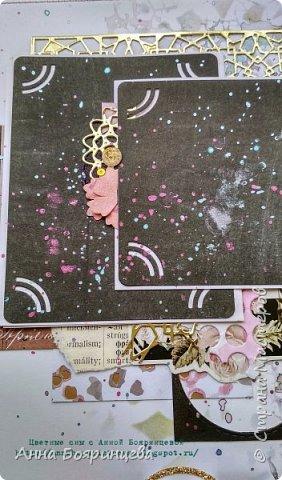 Всем привет!!!!! Когда были МК от Елены Моргун весь интернет пестрил такими альбомами. Я же свой альбомчик показываю только сейчас. Конечно живой МК-это незабываемые ощущения!!!!! 9 часов творчества, пролетели очень быстро. Столько впечатлений!!!! Поработала с красками - акварель Prima Watercolor Confections                                                            - чернила Prima Color Philosophy Dye Ink                                                            - воски Finnabair Art Alchemy Metallique Wax                                            от которых я была в таком восторге!!!!!                                                      Ну а теперь очень много фото!!!!! фото 17