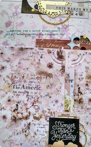 Всем привет!!!!! Когда были МК от Елены Моргун весь интернет пестрил такими альбомами. Я же свой альбомчик показываю только сейчас. Конечно живой МК-это незабываемые ощущения!!!!! 9 часов творчества, пролетели очень быстро. Столько впечатлений!!!! Поработала с красками - акварель Prima Watercolor Confections                                                            - чернила Prima Color Philosophy Dye Ink                                                            - воски Finnabair Art Alchemy Metallique Wax                                            от которых я была в таком восторге!!!!!                                                      Ну а теперь очень много фото!!!!! фото 22
