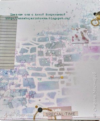 Всем привет!!!!! Когда были МК от Елены Моргун весь интернет пестрил такими альбомами. Я же свой альбомчик показываю только сейчас. Конечно живой МК-это незабываемые ощущения!!!!! 9 часов творчества, пролетели очень быстро. Столько впечатлений!!!! Поработала с красками - акварель Prima Watercolor Confections                                                            - чернила Prima Color Philosophy Dye Ink                                                            - воски Finnabair Art Alchemy Metallique Wax                                            от которых я была в таком восторге!!!!!                                                      Ну а теперь очень много фото!!!!! фото 23
