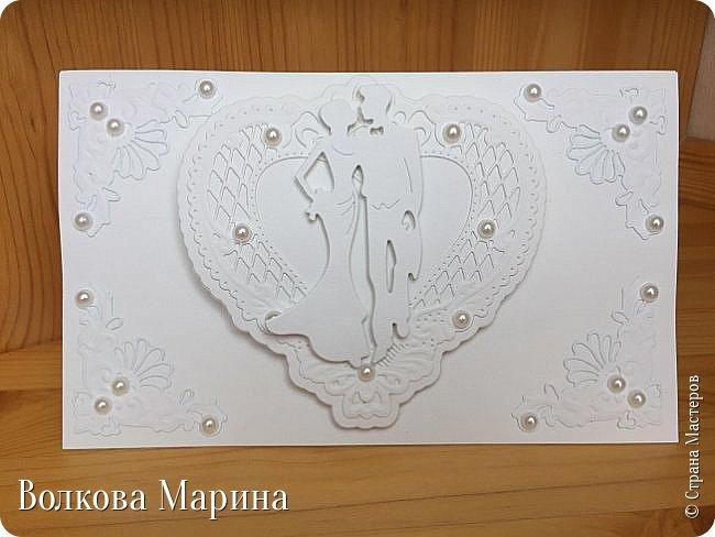 В этот раз свадебная открыточка для совсем молодой пары. фото 3