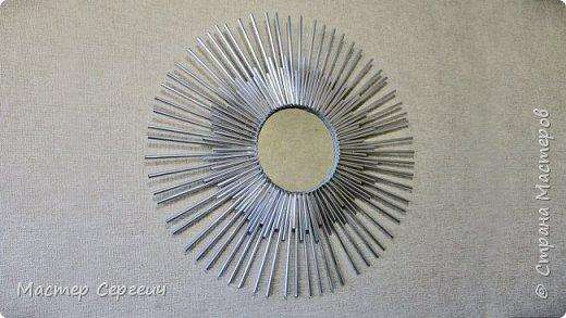 Декор своими руками из зеркала и коктейльных трубочек
