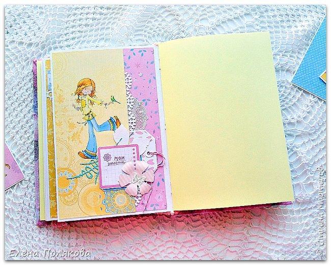 Добрый день! Сегодня я хочу поделиться с вами своим весенним девичьим блокнотом. А также рассказать и показать, как я делаю такой своеобразный блокнот-альбом, в который можно и фото вклеить, и секреты спрятать, и рисунки порисовать,  и мысли разные записать )) фото 16