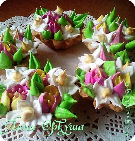 Пирожные корзинки фото 3