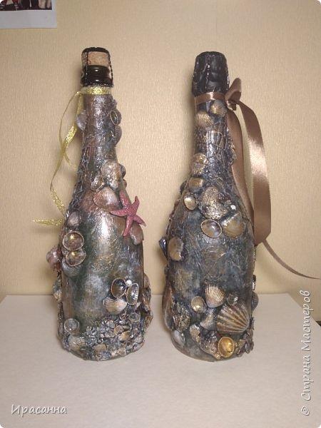 Декор бутылки фото 5