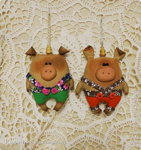 Добрый вечер! Поздновато, но я начала подготовку к Новому году. Как известно, это год Свиньи. Принимайте моих маленьких поросят, свинок.. Пока такие.. фото 4