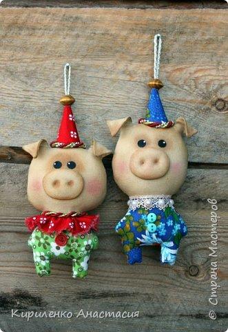 Добрый вечер! Поздновато, но я начала подготовку к Новому году. Как известно, это год Свиньи. Принимайте моих маленьких поросят, свинок.. Пока такие.. фото 1