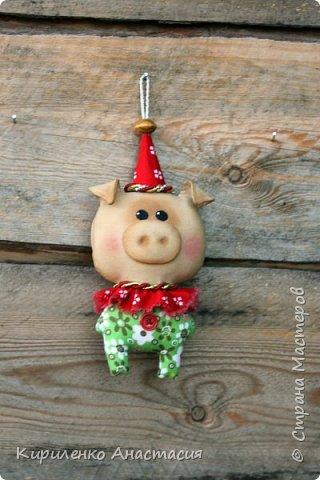 Добрый вечер! Поздновато, но я начала подготовку к Новому году. Как известно, это год Свиньи. Принимайте моих маленьких поросят, свинок.. Пока такие.. фото 3