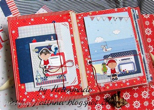 Пиратский морской фотоальбом для маленького мальчика. Оригинальный подарок. фото 2
