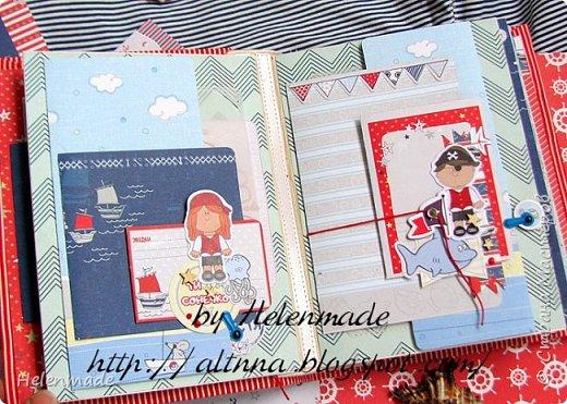 Пиратский морской фотоальбом для маленького мальчика. Оригинальный подарок. фото 3