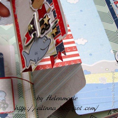 Пиратский морской фотоальбом для маленького мальчика. Оригинальный подарок. фото 7