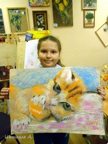 Покажу совместную работу внучки Мирославы и замечательного преподавателя-художника детской студии Надежды Николаевны. Рисунок пастелью.  фото 2