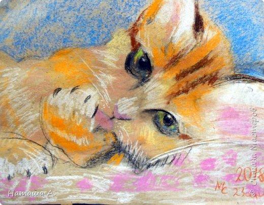 Покажу совместную работу внучки Мирославы и замечательного преподавателя-художника детской студии Надежды Николаевны. Рисунок пастелью.  фото 1