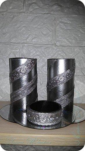 Органайзеры или карандашницы из картонных трубок,не подходящих для изготовления моих шкатулок...эти трубочки оказались меньше диаметром и немного тоньше стеночки...вот решила их так приспособить. фото 13