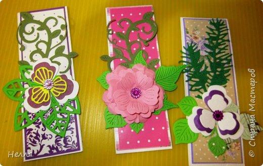 """Сегодня поздравила своих коллег """" С праздником дошкольных работников"""". Давно хотела сделать такие маленькие открыточки. фото 5"""