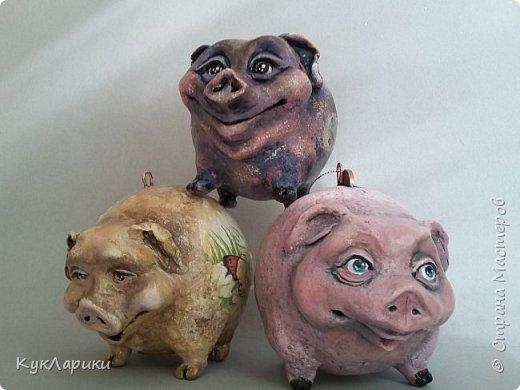 Свиношарики.Елочные игрушки.Висят и стоят самостоятельно. фото 4