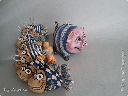 Свиношарики.Елочные игрушки.Висят и стоят самостоятельно. фото 3