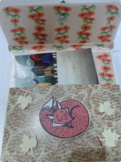 Открытки-сумочки ко дню рождения. Делала по МК https://stranamasterov.ru/node/1143506?c=favorite Лисички, листик и ягодка из фетра (набор из фикс-прайса) фото 2